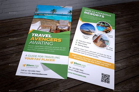 free templates for dl flyers travel agency dl flyer postcard indesign by jbn comilla