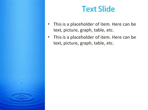 slide powerpoint template free water motion powerpoint template for