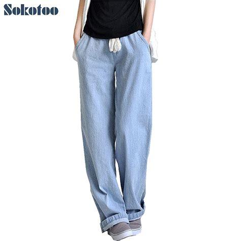 comfortable women s pants aliexpress com buy sokotoo plus size comfortable loose