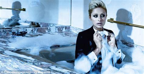 paris hilton bathtub paris hilton takes a bath in a tuxedo for sophisticated