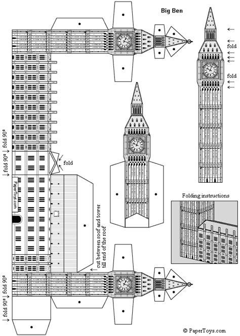 Big Ben Papercraft - big ben st stephen s tower free paper model