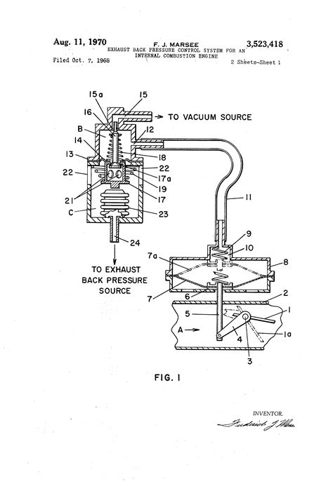 Exhaust System Of Ic Engine Pdf Patent Us3523418 Exhaust Back Pressure System