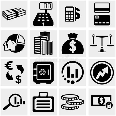 Office And Business Vector Icons Set On Gray Royalty Free Stock Images Image 33973149 Business Finance Vector Icons Set On Gray Stock Vector Illustration Of Home Mallet 33947815