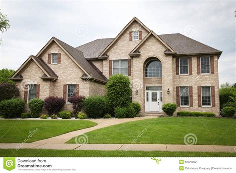 Home Design Story Download suburban brick house stock photography image 19727892