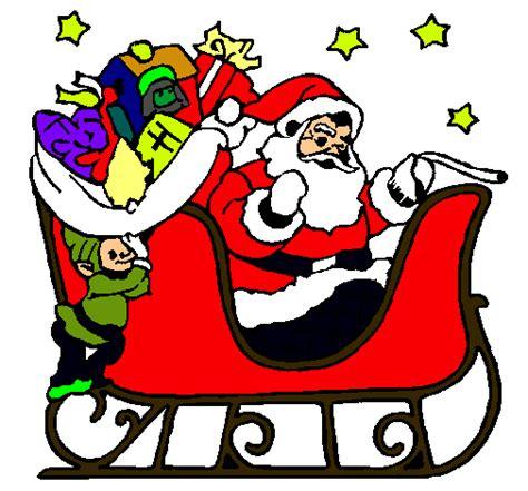 imagenes de navidad trineos dibujo de papa noel en su trineo pintado por manuxx en