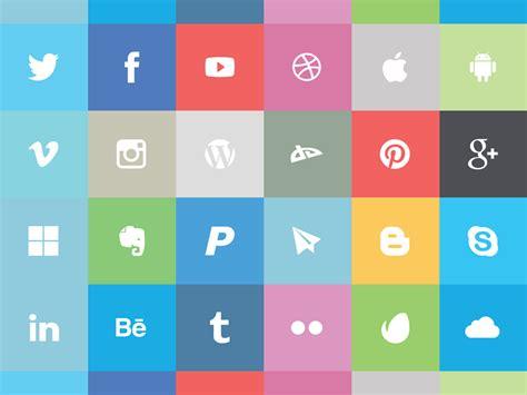 the free flat social icon set ai eps png