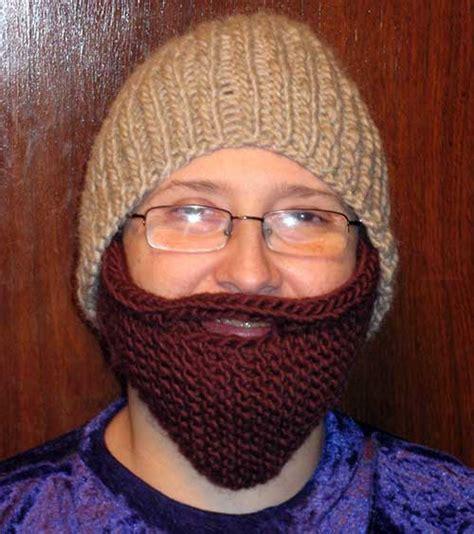 knitted baby beard knitting patterns galore bearded beanie