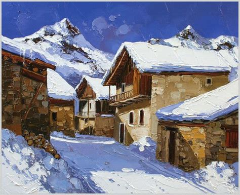 Peinture Blanc Neige by Paysage De Neige En Peinture Landcapes Winter En