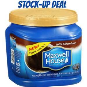 maxwell house coffee coupon and deals