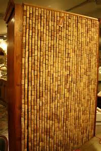 Wine corks curtain which is not a complicated venture as wine corks