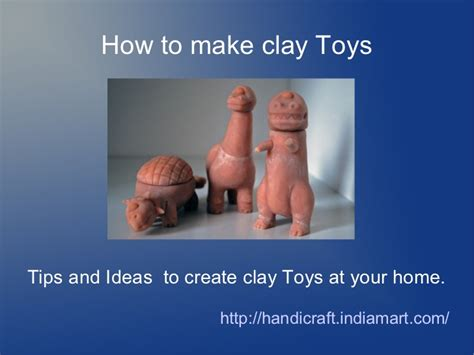 how to make clay toys