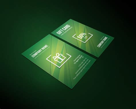 corporate gift card template stylish corporate gift card template 001253 template catalog