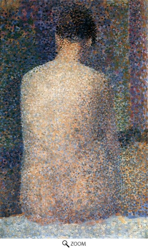 seated model side view 1887 georges seurat oil georges seurat model from behind painting reproduction art