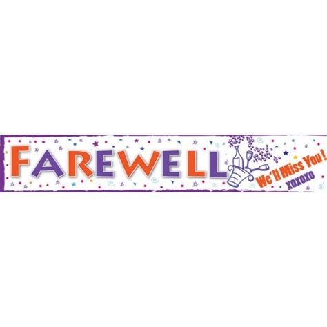 farewell banner template gallery of the gallery for farewell and luck banner