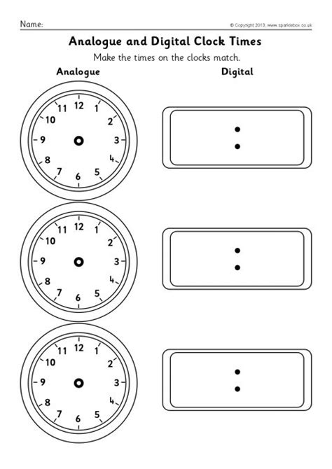blank time worksheets blank analogue and digital clock times worksheets sb9593