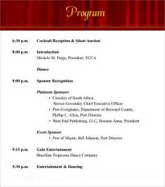 program event template sle event program template 17 free documents in pdf