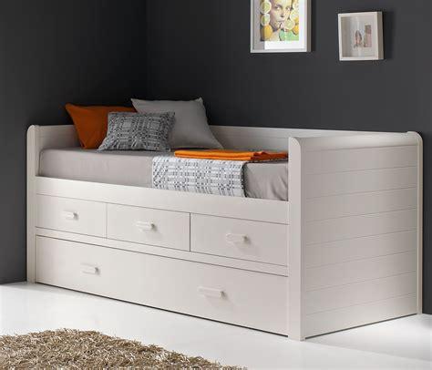 cama lacada blanca cama compacta blanca con cajones lacada mod valencia