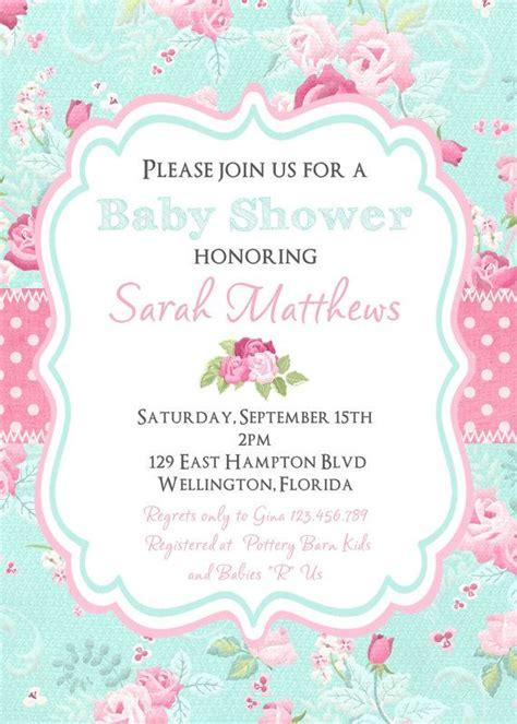 Shabby Chic Baby Shower Invitations by Shabby Chic Baby Shower Invitation Floral By