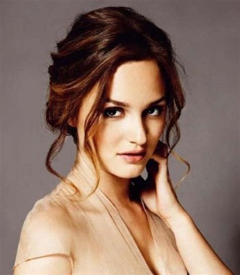 Leighton Meester Hairstyles: Graceful Updo   Pretty Designs