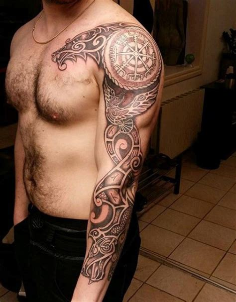 viking sleeve tattoo designs 80 rune tattoos for germanic lettering design ideas