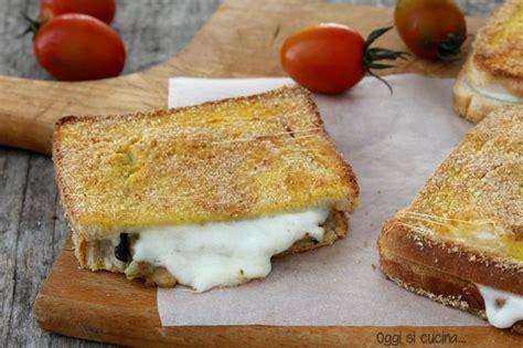 mozzarella in carrozza parodi mozzarella in carrozza con melanzane mozzarella