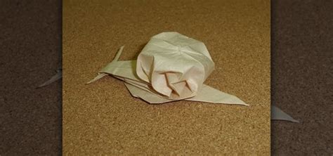 Origami Snail - how to fold an adorable lifelike origami snail 171 origami