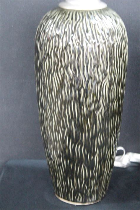 unusual vases large and unusual black and white textured ceramic vases with l application at 1stdibs