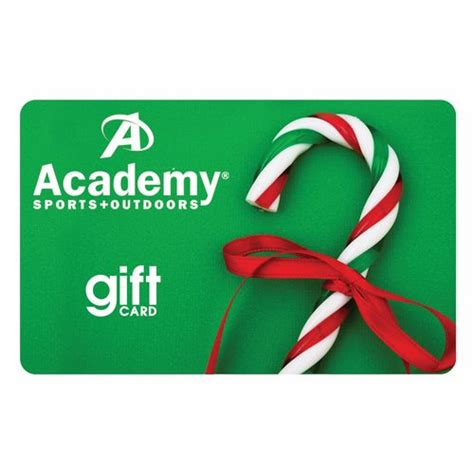 Canes Gift Card - academy holiday gift card candy cane design academy