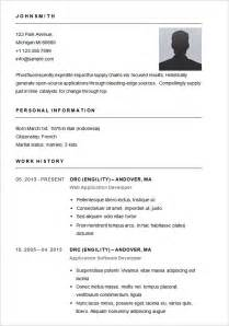 Basic Resume Exles by Basic Resume Template 51 Free Sles Exles Format Free Premium Templates