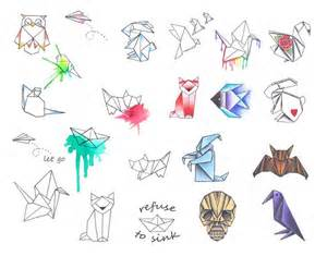 Geometric Designs 25 best ideas about origami tattoo on pinterest masking