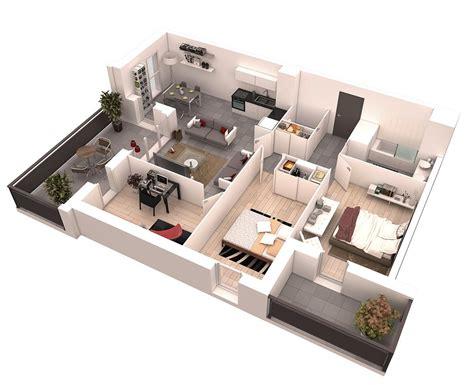 25 More 2 Bedroom 3d 25 More 2 Bedroom 3d Floor Plans