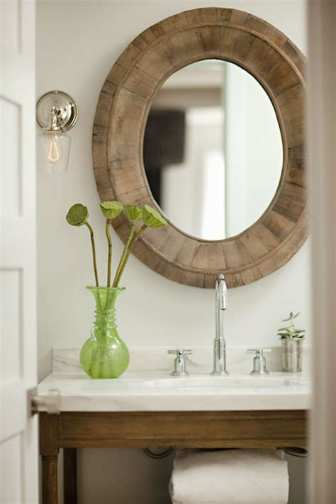 Nickel Sconces Weathered Oak Single Console Sink Transitional