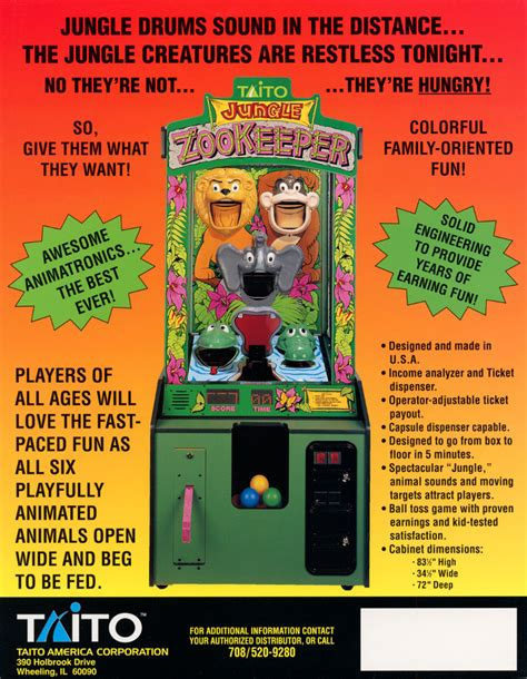 Home Design Vocabulary the arcade flyer archive arcade game flyers jungle zoo