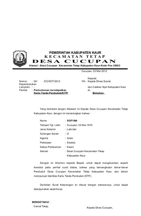 format surat pengunduran diri kepala desa contoh surat pengantar kepala desa cucupan