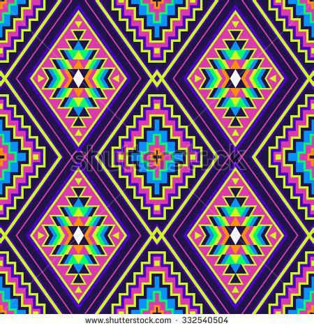 navajo pattern background rainbow color tribal navajo seamless pattern stock vector