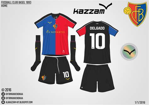Kaos Tahun Klub Putih 01 fc basel home away gk 1 gk 2 kits kazzam