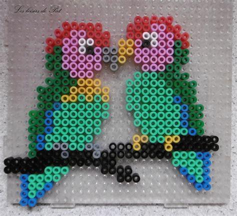 Modele Perroquet perles hama perroquets les loisirs de pat