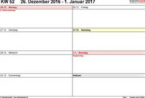 Kalender 2018 Zum Ausdrucken Wochen Wochenkalender 2017 Als Pdf Vorlagen Zum Ausdrucken