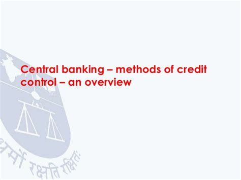 controlling bank credit by central bank