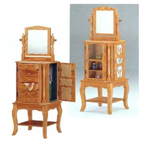 rotating jewelry armoire jewelry armoire revolving jewelry armoire in oak finish