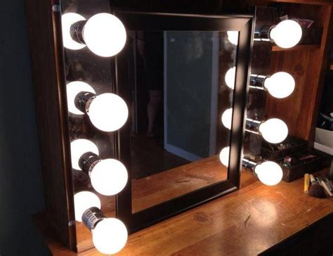 tabletop makeup mirror with lights vanity with lighted mirror
