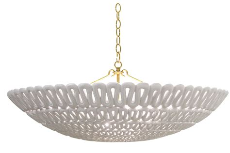 White The Winter Wonder Oly Pipa Bowl Chandelier