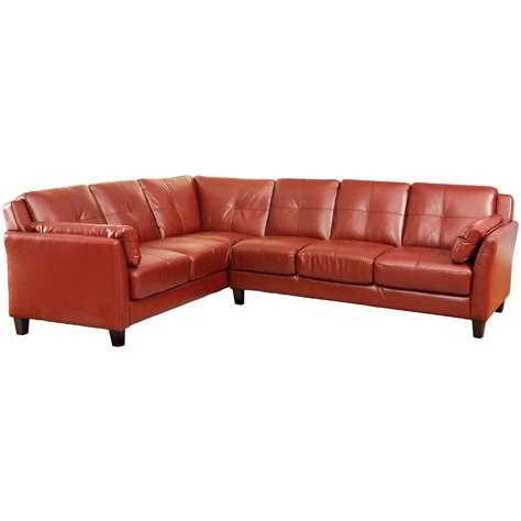 Sofa U Santa Barbara venetian worldwide santa barbara sectional sofa in mahogany leatherette home furniture