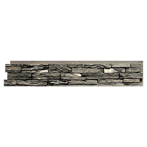 panels random rock faux veneer siding