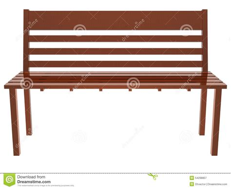 Old Bench Seat Wood Long Chair Stock Illustration Image 54298807
