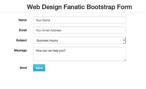 bootstrap form templates html5 form validation bootstrap phpsourcecode net