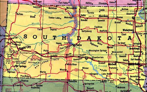 map of sd south dakota map south dakota mappery