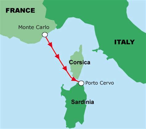 porto cervo mappa monaco to porto cervo race course map yacht charter