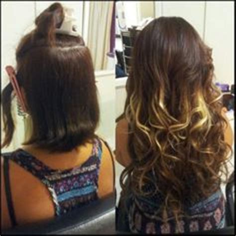micro ring hair extensions before and after hair on hair wave