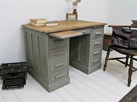 antique painted oak office desk by distressed